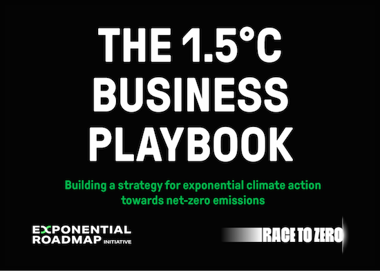 Partnership with Race To Zero & second version of  1.5°C Business Playbook announced