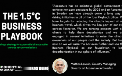 Accenture Sweden joins the Exponential Roadmap Initiative as partners of the1.5°C Business Playbook