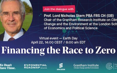 Top Climate Economist Lord Stern Will Say Achieving Net Zero Emissions by 2050 is the Growth Story of the 21st Century.