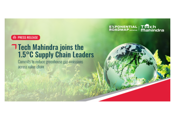 Tech Mahindra joins the 1.5°C Supply Chain Leaders- Commits to reduce greenhouse gas emissions across value chain