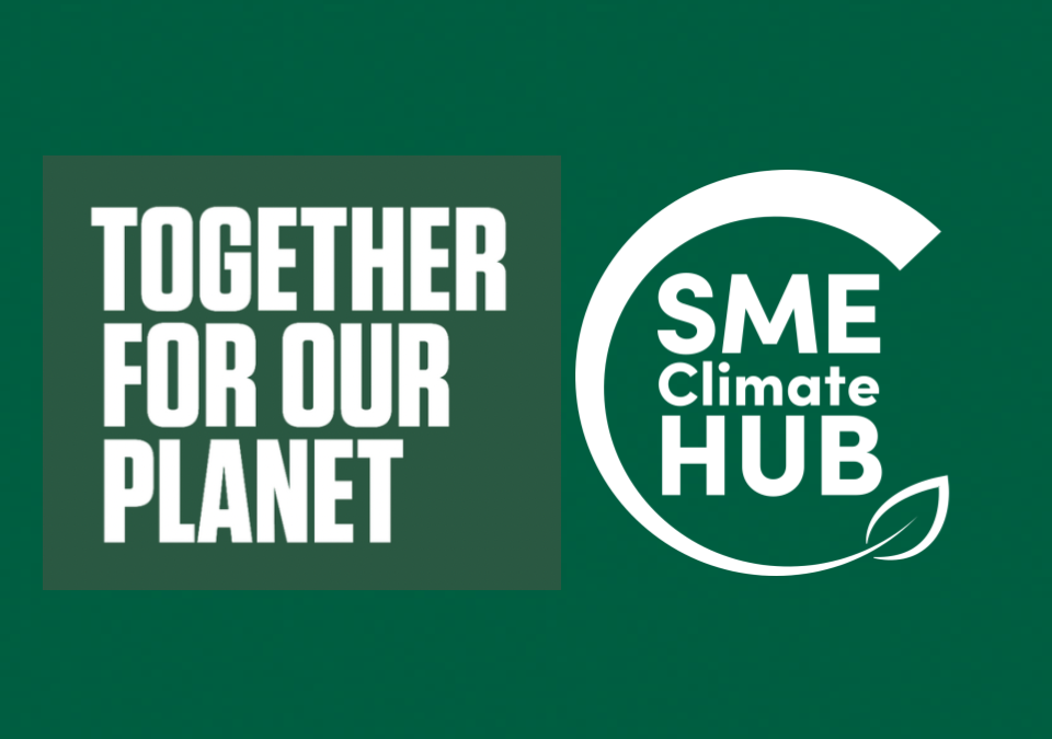 Together For Our Planet Business Climate Leaders Campaign: The SME Climate Hub supports the UK government's new campaign to encourage small businesses to go green