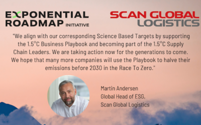 Scan Global Logistics (SGL) is joining the Exponential Roadmap Initiative and the 1.5°C Supply Chain Leaders