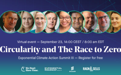 Circularity and the Race to Zero- Exponential Climate Action Summit III