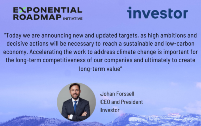 Investor joins Exponential Roadmap Initiative and UN Race to Zero